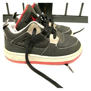 Nike AJF 4 Black Varsity Red Stealth 365162-061